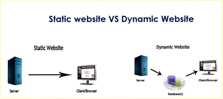 ثابت على الويب تصميم-مقابل-ديناميكية الموقع تصميم